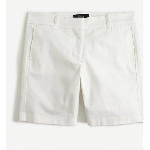 """J.Crew $50 7"""" Stretch Chino Shorts in White H5809"""